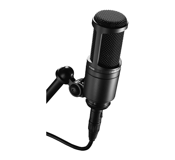 Masayoshi uses an Audio Technica AT 2020 microphone