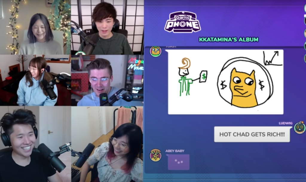 social games such as gartic phone are a really good way to get more viewers on Twitch and increase your growth through collaboration with other streamers