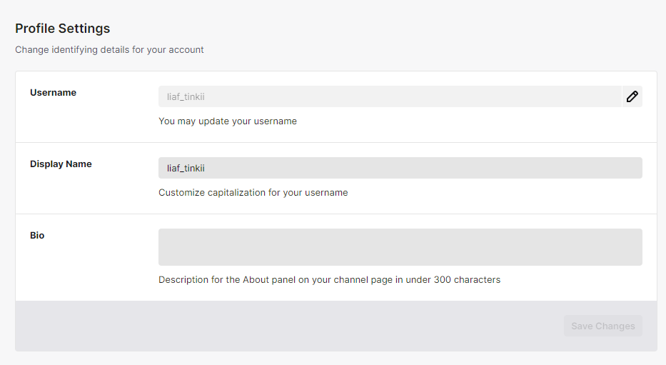 how to change your existing Twitch name
