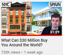 Twitch streamer Ludwig uploading a video named 'what can 30 million buy you around the world' a perfect example of the yoink and twist