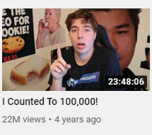 mrbeast counted to 100,000 to blow up on youtube