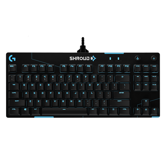 Shroud uses the Logitech G Pro X Gaming Keyboard (shroud edition) as part of his gaming setup