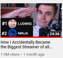 Ludwig uses clickbait video titles on YouTube to get more attention to his videos