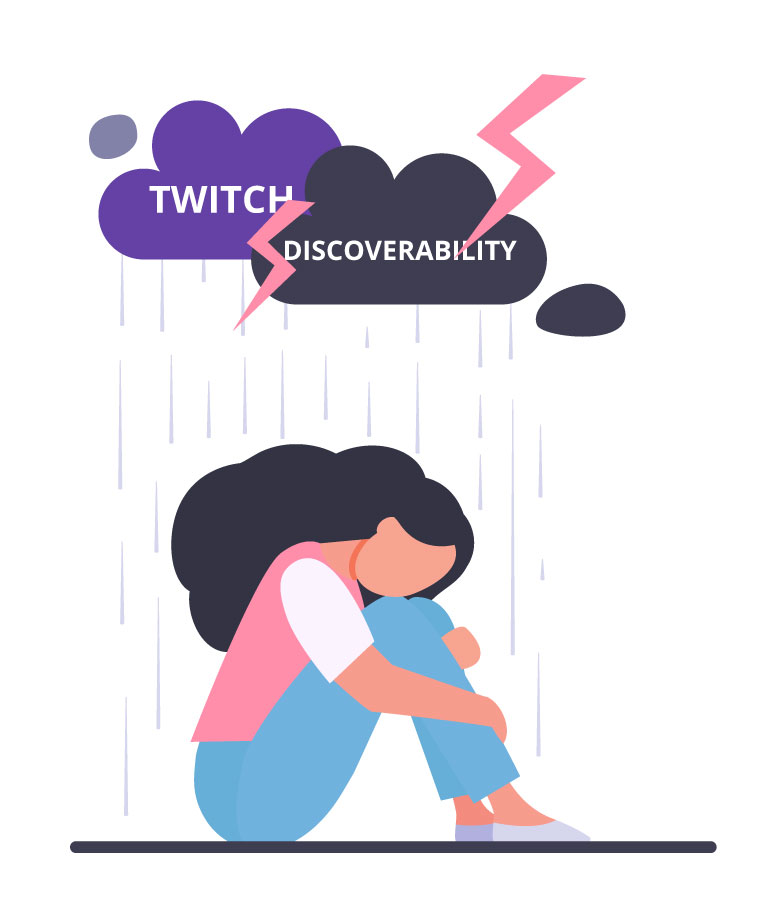 twitch lacks discoverability whereas youtube doesn't