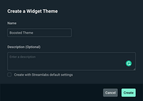 give your new custom stream alert a name in streamlabs