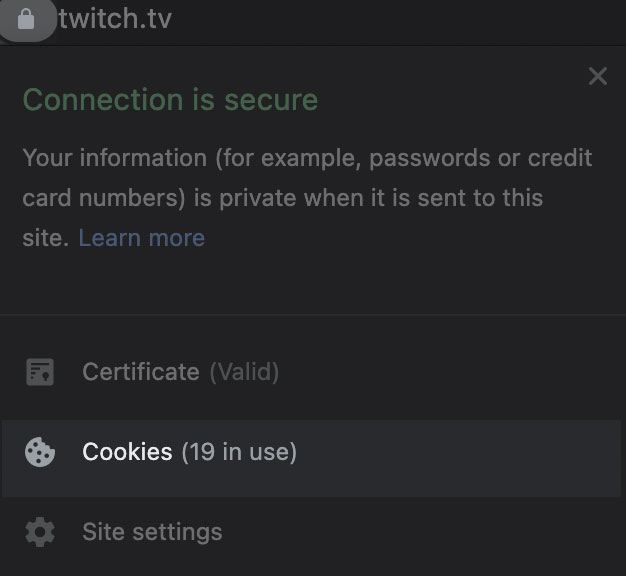 allow third party cookies to prevent error 3000 on twitch