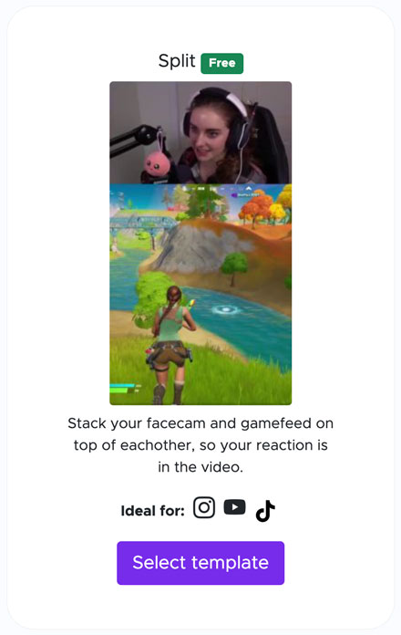 choose a template on streamladder for your tiktok video